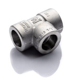 Trójnik 1.14'' 3000 SW 316L kielichowy DN32 42,4mm stal nierdzewna X2CrNiMo17-12-2 1.4404 socked weld do spawania 54''