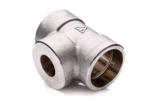 Trójnik 1'' x 12''x 1'' redukcyjny 316L stal nierdzewna kl.3000 kielichowy SWSWSW socked weld do spawania kielichowy