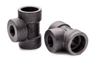 Trójnik 1.12'' X 1.14'' x 1.12'' redukcyjny 3000 SW A105 kielichowy stal kotłowa do spawania P245GH P285GH socket weld 112 114 32 54