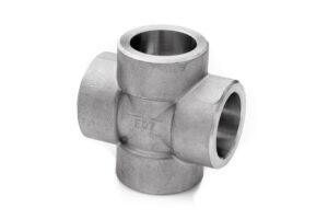 Czwórnik 1'' SW 304L kl. 3000 do spawania równoprzelotowy stal nierdzewna 1.4307 cross socket weld